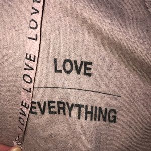 Good hYOUman Love over Everything Lace-up Hoodie